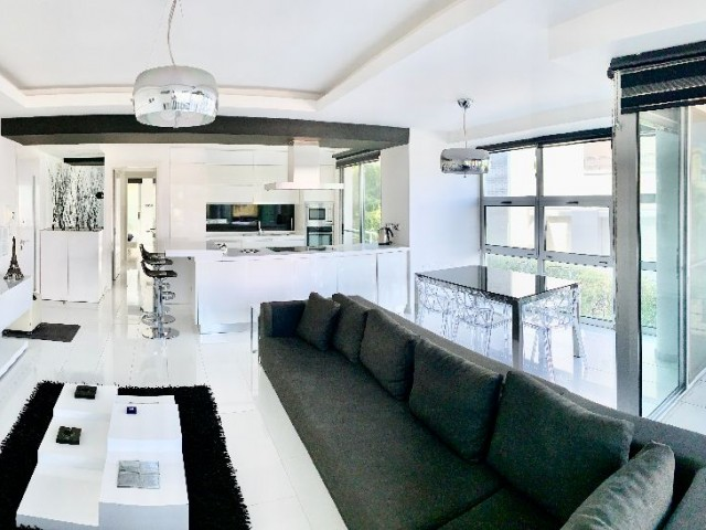 Flat for Sale in Kyrenia Center 2 + 1 | 35 m2 Garden | Modern Design