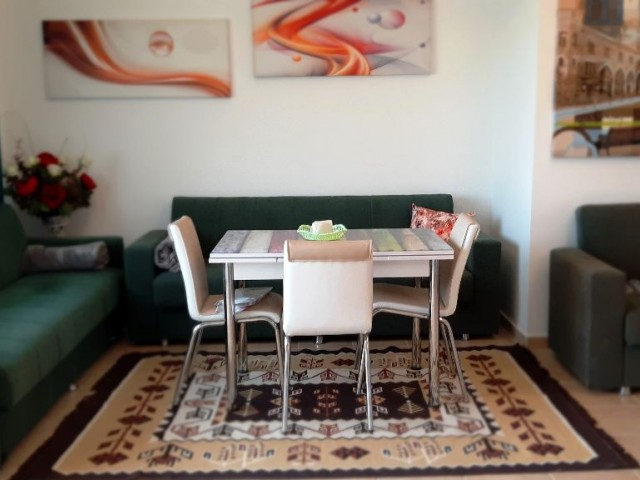 1+1 well looked after fully furnished apartment, close to Iskele Unimar