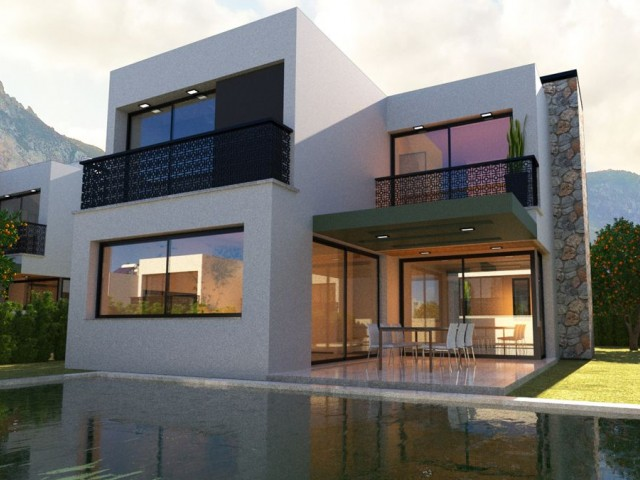 PRE 74 TURKİSH TİTLE VİLLA WİTH PRİVATE POOL İN ZEYTİNLİK /  KYRENİA, UP TO 12 YEARS MORTGAGE!
