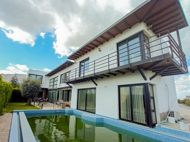 JUST REDUCED from 425,000 GBP to 370,000 GBP - Unique Modern Design 4 + 3 Villa with Private Pool in this Popular Cypriot Village of Ozankoy