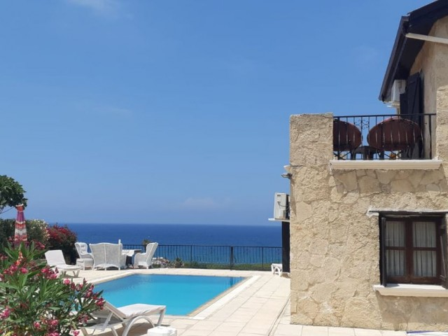 STUNNING 3 + 1 STONE VILLA WITH PRIVATE POOL FOR SHORT TERM RENTAL WITH AMAZING SEA VIEWS