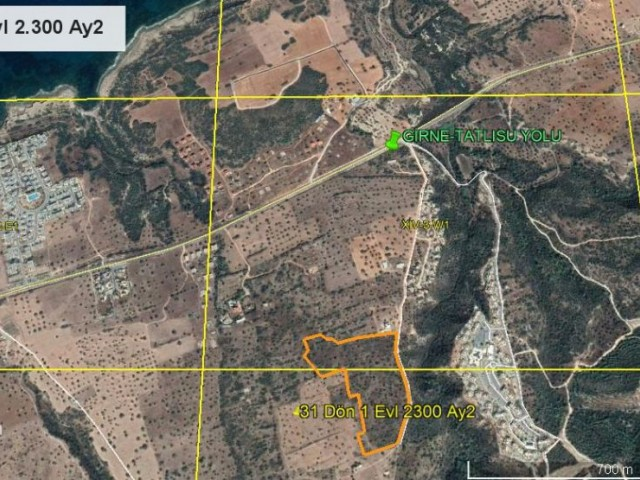 Large Land For Sale In Tatlisu With Fabulous Views
