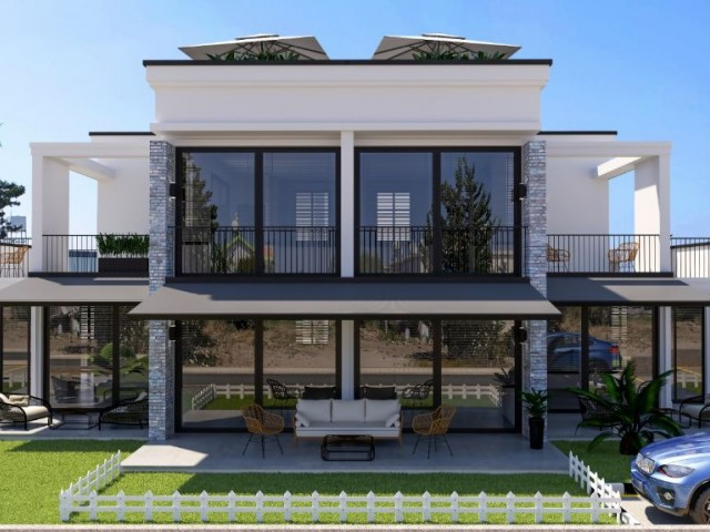 for sale luxury apartments in kyrenia with garden and terrace
