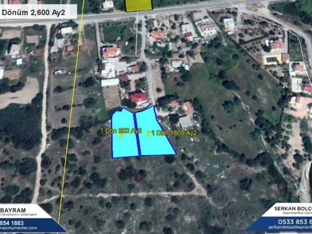 LAND FOR SALE IN KARSIYAKA WITH FANTASTIC VIEWS