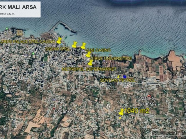1040 M2 OF TURKISH LAND FOR SALE IN CYPRUS BELLAPAIS