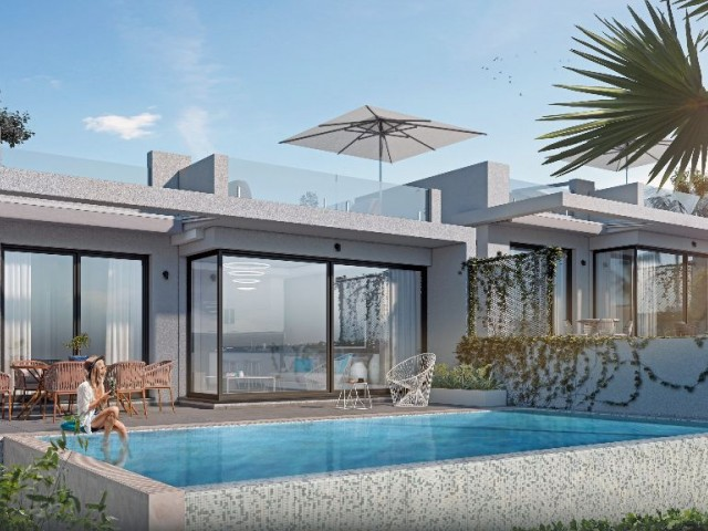 2 bedroom new apartment by the sea for sale in Kyrenia, Esentepe