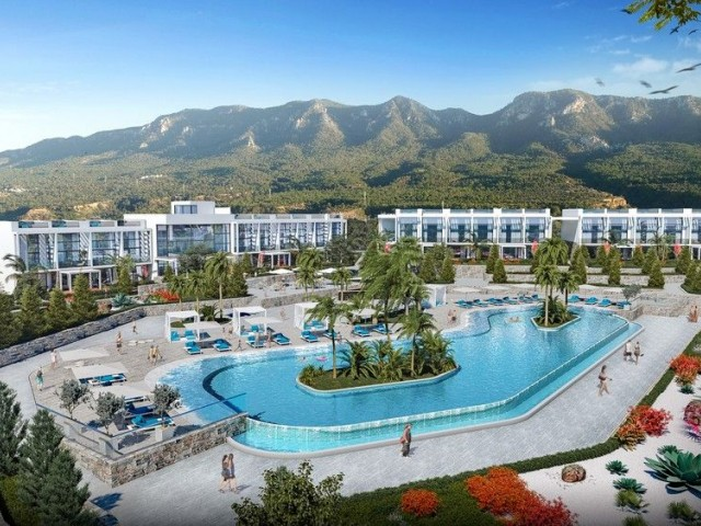 1 +1 modern-style apartment by the sea for sale in city of Kyrenia, Esentepe