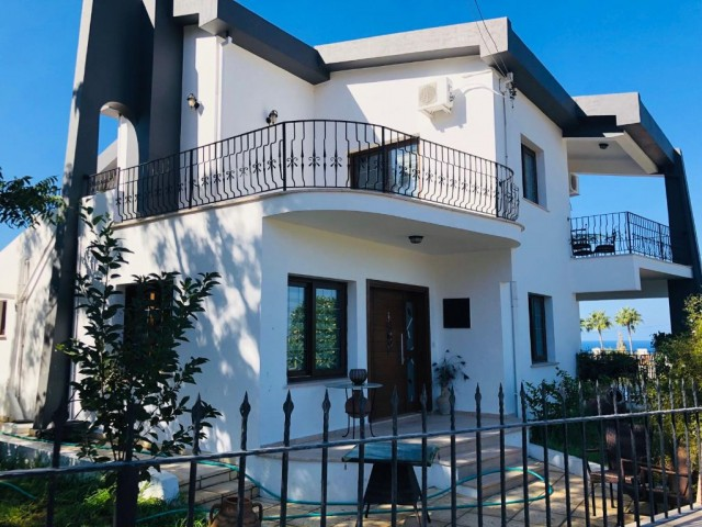 4+1 villa for sale in Ozanköy. Sea and mountain view.