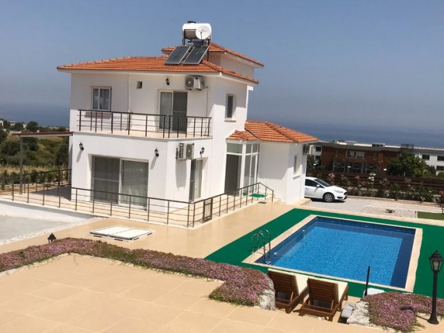 Beautiful 3 Bedroom, 3 Bathroom Villa with Private Pool in Catalkoy with Panoramic Views of the Sea and Mountains - ONLY 1 DEPOSIT