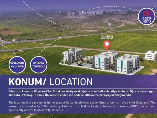 Investment Opportunity Land for sale walking distance Middle Eastern Technical University.